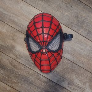 Spiderman hard mask. Lights up with one button.